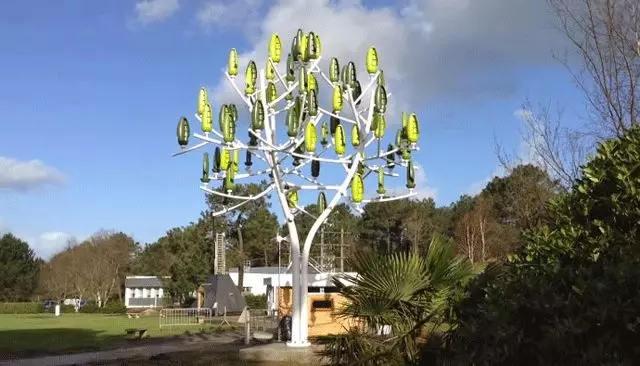 世界首款风力树发电机——Wind Trees。